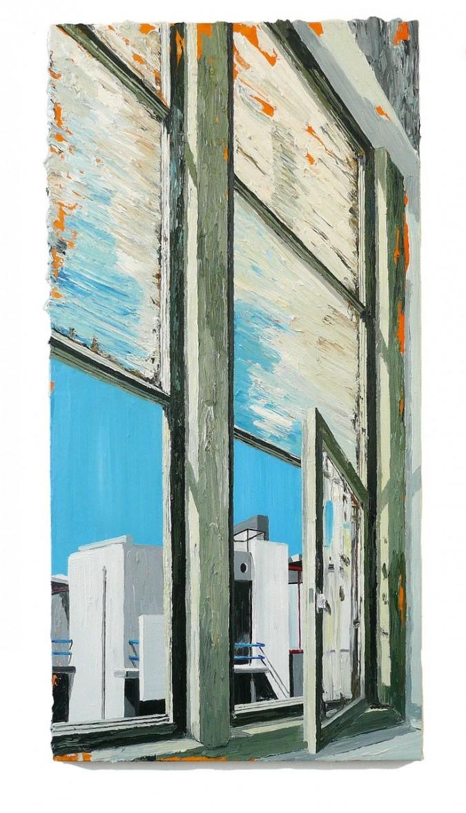 Hans de Bruin A room with a view  200 X  100 cm